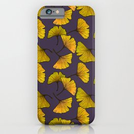 Ginkgo Leaf (Fall) - Plum iPhone Case