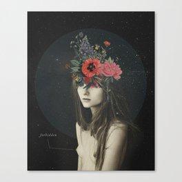 mujer florero Canvas Print