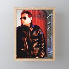 Falco in Doorway Framed Mini Art Print