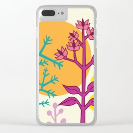 Ibiza flowers 2 Clear iPhone Case