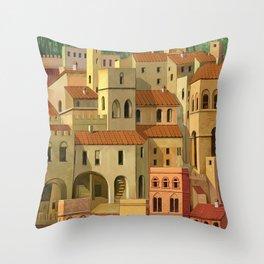 Medieval city Throw Pillow