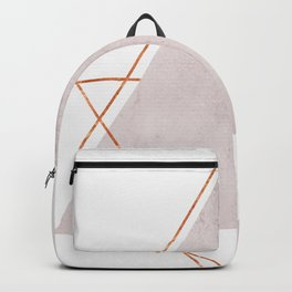 BLUSH COPPER ROSE GOLD GEOMETRIC SYNDROME Backpack
