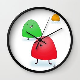 Holiday Gumdrops Wall Clock