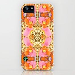 Pink & Orange Poppy 4 iPhone Case