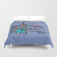 europe Duvet Covers featuring europe by PINT GRAPHICS