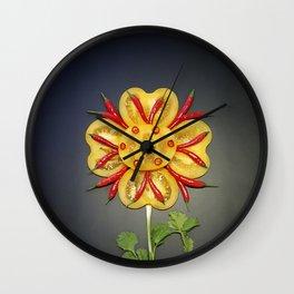Chili Flower Wall Clock