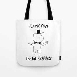 Cameron the Fat Faced Bear Tote Bag