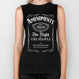 2nd Amendment Whiskey Bottle Biker Tank