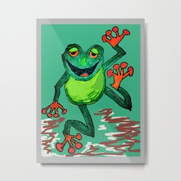Frog Leap Metal Print