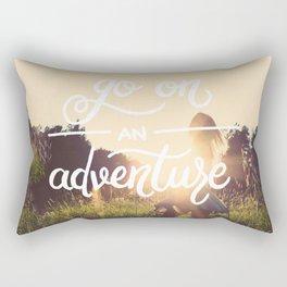 Go on an adventure Rectangular Pillow