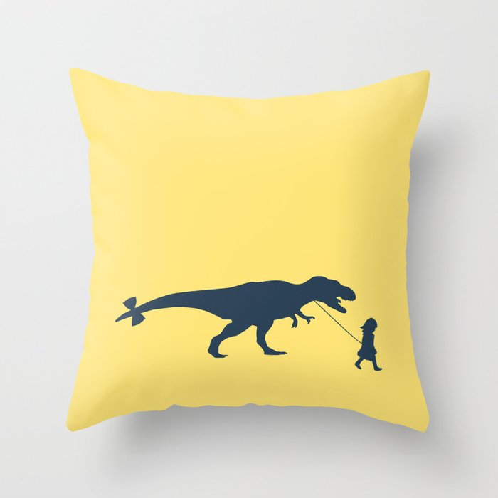 Walking my beast Throw Pillow