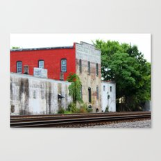 Across the tracks Canvas Print