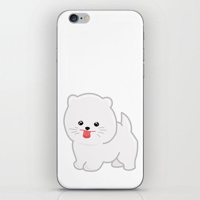 White Pomeranian iPhone Skin