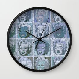 Watch This Space gallery - Signature Blue Fame Marilyn Wall Clock