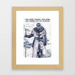 Knights Templar motto / The crusader / abstract portrait Framed Art Print