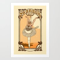 swanson Art Prints featuring Swanson Lake by Rodrigo Ferreira