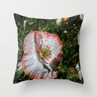 degas Throw Pillows featuring Degas' poppy by Bee in Eden