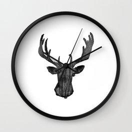 Good Morning Deer Wall Clock