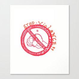 40. Henna - Stop VioLeNcE!!  Canvas Print