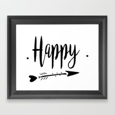 Happy Lettering-PM coll Framed Art Print