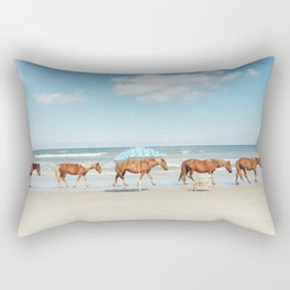 Summer Coast Horse Stride Rectangular Pillow