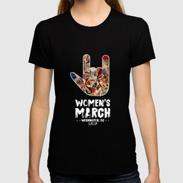 Iconic 'I Love You' in American Sign Language for Women's March T-shirt