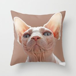 Sphinx Cat Throw Pillow