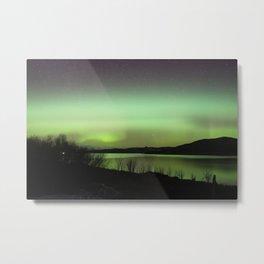 Aurora Borealis to the North - Isle of Skye Metal Print