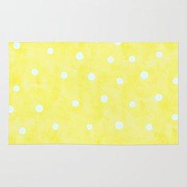 Vintage Happy Yellow Polka dots Rug