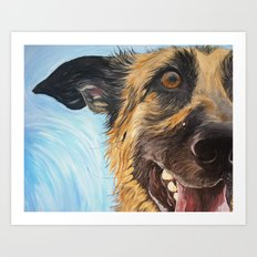 German Shepherd Dog Art Print