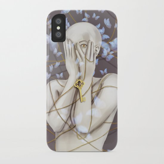 Open your eyes iPhone Case