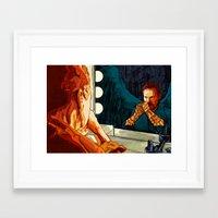birdman Framed Art Prints featuring Birdman by Matthew Brazier Illustration