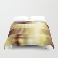 copper Duvet Covers featuring Copper Pattern by Robin Curtiss