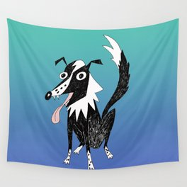 Basic Border Collie Wall Tapestry