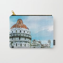 Watercolor painting of Pisa, Italy Carry-All Pouch
