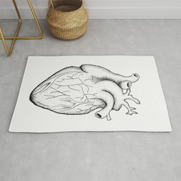 dotwork heart Rug