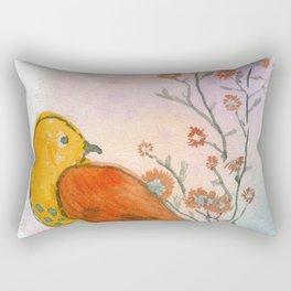 Garden Bird Rectangular Pillow