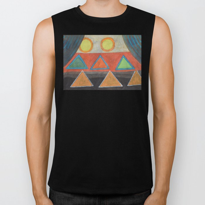 Clear the Stage for the Geometry Show Biker Tank