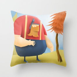 Lumberjacks Throw Pillow