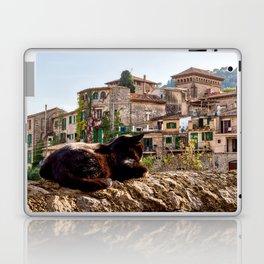 Cat sunbathing in Valldemossa Laptop & iPad Skin