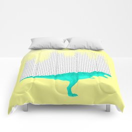 dino got the blues, or not! Comforters