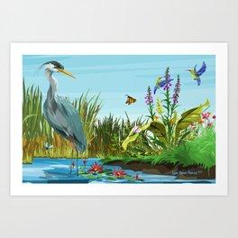 Wetlands 1 Art Print