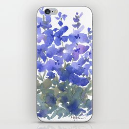 Beautiful Blue Delphiniums iPhone Skin