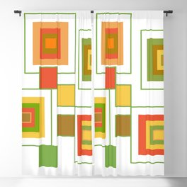Retro Minimalist Square Design Blackout Curtain