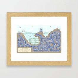 Undertunnels Maze Framed Art Print
