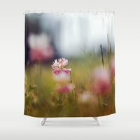 clover Shower Curtains featuring Clover by elle moss