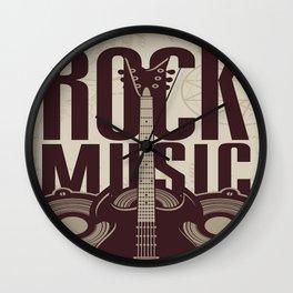 Rock Music Guitar Wall Clock