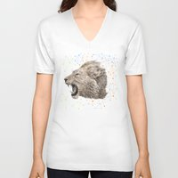 leo V-neck T-shirts featuring Leo by dogooder