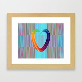 Fractal Art- Pattern Art- Heart Art- Blue Hearts-Pixxie Stixx- LGBT Art- Love- Healing Energy Art Framed Art Print