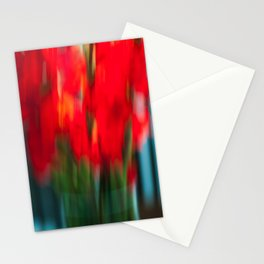 Red Gladiola Stationery Cards